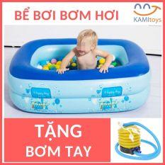 Bể bơi bơm hơi (120 x 85 x Cao35cm)Tặng Bơm Tay cho trẻ em bé <6 tuổi hồ bơi phao bơi nhà lều banh bóng áo tập bơi be boi ho boi phao boi nhabanh nhabong ao phao tap boi beboi hoboi phaoboi aophao
