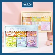 SET 300 sticker theo chủ đề (hộp lớn) Hoặc 50 sticker (hộp nhỏ bất kì) giấy cao cấp, hình dễ thương – Amora UNI
