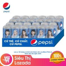 Thùng 24 Lon Nước Giải Khát Pepsi x Black Pink Phiên Bản Giới Hạn (330ml / Lon)