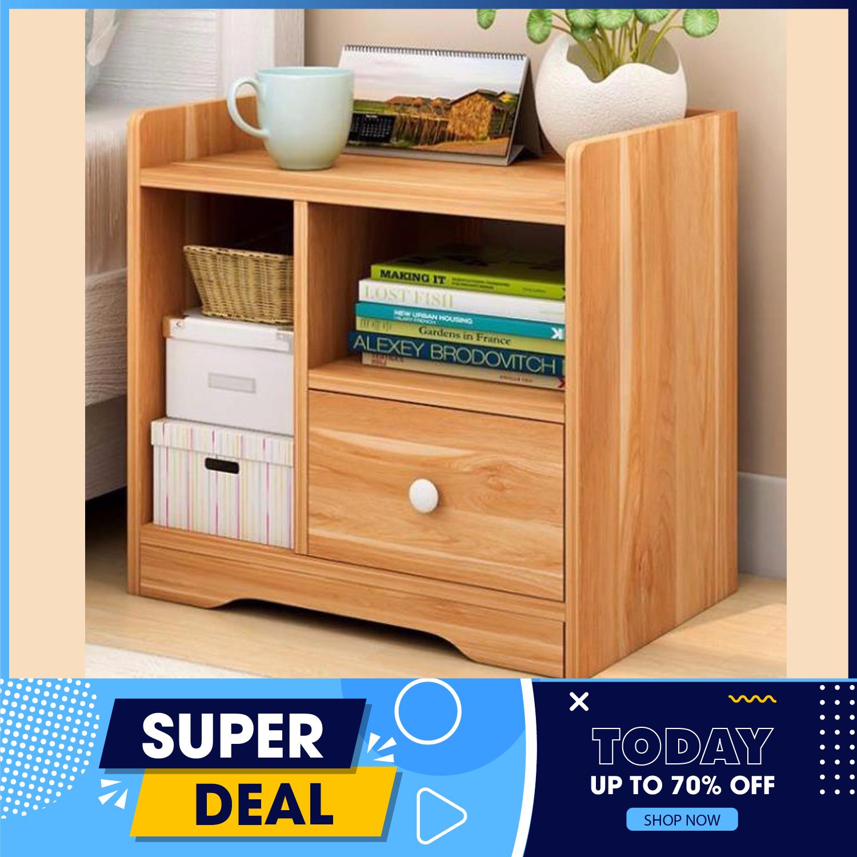 Tủ gỗ đầu giường – Táp gỗ đầu giường – Kệ gỗ để đồ- Kệ gỗ- 1 Ngăn kéo, thiết kế sang trọng nhã nhặn phù hợp với mọi phòng ngủ