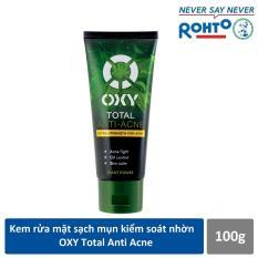 Sữa rửa mặt sạch khuẩn mụn kiểm soát nhờn OXY Total Anti Acne 100g