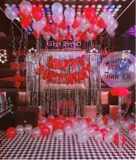 GIAM GIA! Set Bóng trang trí sinh nhật Happy Birthday +2 Rèm Kim Tuyến+ 50 Bóng Nhũ + bơm keo