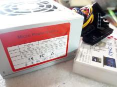 Nguồn Micro Power ATX-450W, Kích thước nguồn (12.5 X 10 X 6.3 Cm) (Gắn cho thùng MINI)