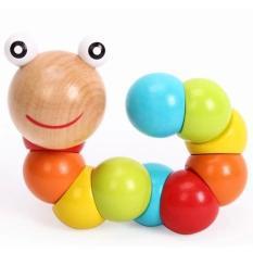 CSG – Đồ chơi con sâu gỗ uốn dẻo nhiều màu sắc đáng yêu cho bé