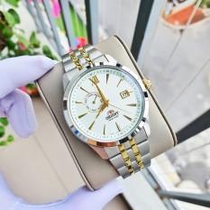 Đồng hồ Nam Orient Automatic FAL00001W0 Mặt trắng,Demi vàng,Lịch ngày-Máy cơ tự động-Dây kim loại cao cấp-Size 42mm