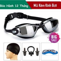 Sét mũ kính bơi- Kính bơi trẻ em giá rẻ Combo set mũ kèm kính bơi, nút bịt tai,chọn bộ sản phẩm cao cấp, giá rẻ – BẢO HÀNH 1 ĐỔI 1 bởi Lucky Store SG.
