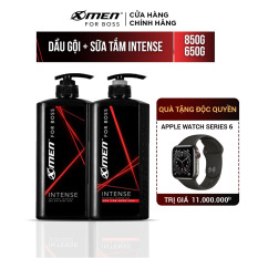 Dầu Gội X-Men For Boss Intense 850g và Sữa Tắm X-Men For Boss Intense 650g