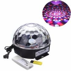(Có điều khiển) Đèn Led 7 màu vũ trường, đèn Sân Khấu Quả Cầu Xoay Cảm Biến Theo Nhạc dùng trong trang trí quán karaoke, bar, sân khấu, các buổi tiệc…