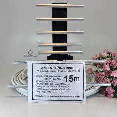 [Nhập ELAPR21 giảm 10% tối đa 200k đơn từ 99k]Anten thông minh thu sóng DVB T2 + 15m dây cáp + Jack nối