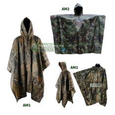Áo mưa màu lính Quân đội rằn ri choàng thân