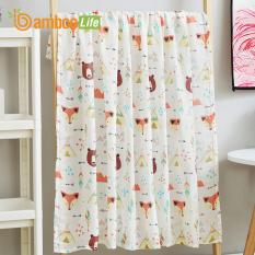 Khăn tắm cho bé, khăn quấn, quấn chũn sợi tre Bamboo Life BL054 kháng khuẩn giúp bé ngủ ngon, chống giật mình
