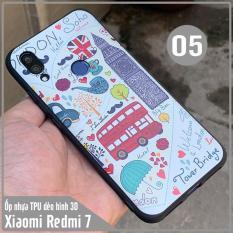 (9 MẪU) Ốp lưng cho Xiaomi Redmi 7 hình 3D nổi , nhựa TPU dẻo