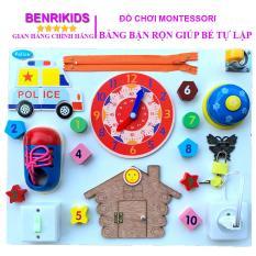 Bảng Bận Rộn Busy Board BR02 Benrikids Cho Bé Luyện Các Kỹ Năng Cơ Bản, Đồ Chơi Giáo Dục Trẻ Em