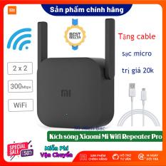 [BH 12 THÁNG] Kích Sóng WiFi Xiaomi – Thiết Bị Mở Rộng WiFi Xiaomi Mi Wifi Repeater Pro phiên bản mới 2020, 300Mbps 2 râu WiFi 2*2 DBI Antenna 2.4GHZ Giúp Tăng Khả Năng Phát Sóng Xuyên Tường, Hàng chính hãng – Mi Miền Bắc