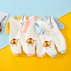 Body liền thân trần bông, bodysuit dài tay cotton cho bé trai và bé gái sơ sinh từ 3-13kg, hàng đẹp xuất Hàn