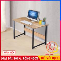 Bàn để máy tính, bàn học sinh, đầy đủ linh kiện lắp ráp, Chất liệu khung thép sơn tĩnh điện chịu tải cao. KT 80 x 40 x 73cm
