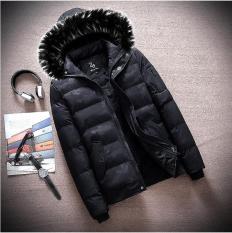 Combo Áo khoác phao nam lót lông AP47 + Tất cao cổ cotton cao cấp + Găng tay da lót lông