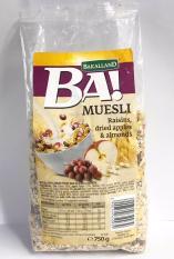 Ngũ cốc dinh dưỡng Bakalland Muesli gói 750gr (Nho khô, táo, hạnh nhân)
