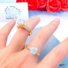 Nhẫn nữ đính đá hột cao dạng mảnh thiết kế thời trang Orin N677