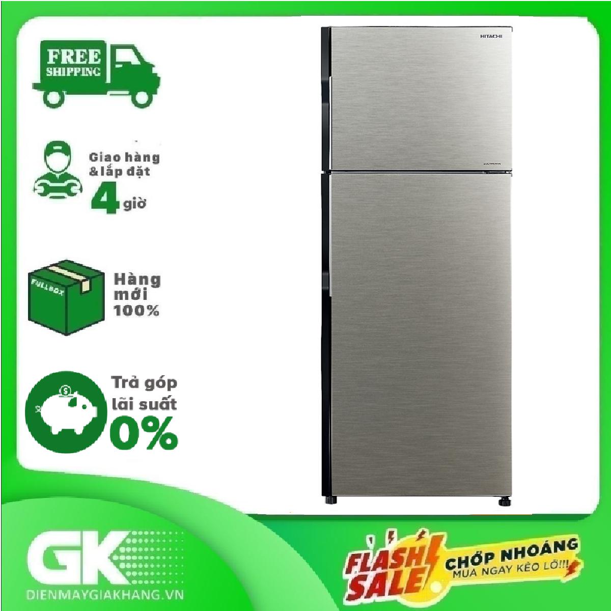 TRẢ GÓP 0% – Tủ Lạnh Inverter Hitachi R-H310PGV7-BSL