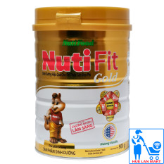 Sữa Bột Nutifood Nuti Fit Gold Hộp 900g (Dành cho trẻ trên 2 tuổi thừa cân béo phì)