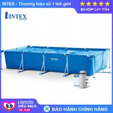 Bể bơi khung kim loại gia đình cỡ lớn chữ nhật INTEX 28273 – INTEX Việt Nam – Hồ bơi cho bé mini, Bể bơi phao trẻ em, bể bơi cỡ lớn, bể bơi ngoài trời