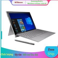 Laptop lai Samsung Galaxy Book 2. Siêu phẩm Màn 2K. Siêu Chip Snapdragon 850. Win 10 chay exe thoải mái, tặng thêm 2 phần mềm tienganh123, luyenthi123 bản quyền trị giá 400k