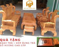 Bộ bàn ghế Tần Thủy Hoàng gỗ gõ đỏ