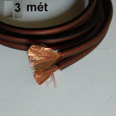 Dây loa nhật lõi đồng nguyên chât tiết diện 4mm2, Chiều dài 1m/3m/5m, Dây đôi màu nâu, Đồng tơ lợi âm trầm, thương hiệu Canare Japan