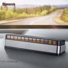 Bảng thông báo số điện thoại chủ xe có phản quang thiết kế sang trọng thông minh dùng trên xe ô tô thương hiệu Baseus – Phân phối bởi Baseus Vietnam
