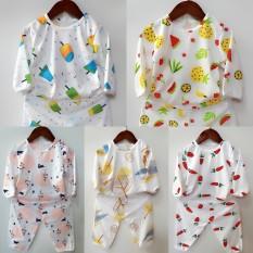 Quần áo trẻ em: Set 5 bộ kem dài chui cotton 2 chiều cho bé 3-14kg