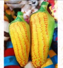 gối ôm thú nhồi bông hình trái bắp ngô 3d lớn vải nhung êm mềm
