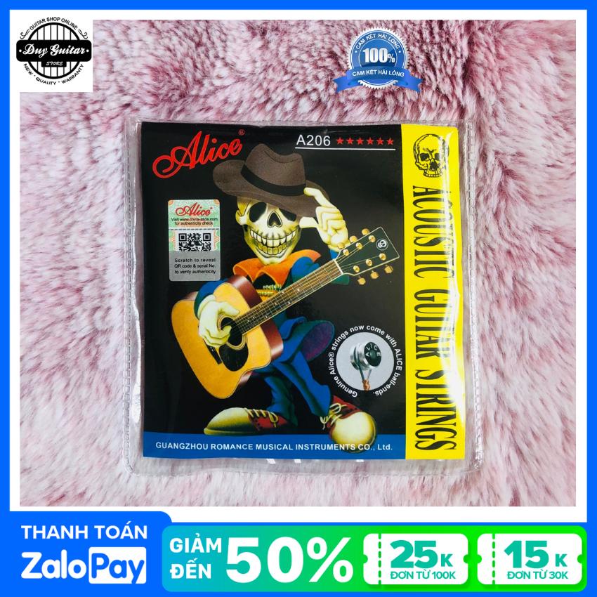 Một bộ 6 dây đàn guitar acoustic Alice A206 Duy Guitar Store – Phụ kiện guitar giá tốt dành cho người mới tập