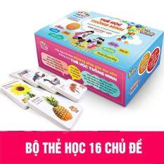 [Sale Sốc] Bộ thẻ thông minh 16 chủ đề 416 thẻ học cho bé – Phát triển trí não cho bé từ 0-6 tuổi