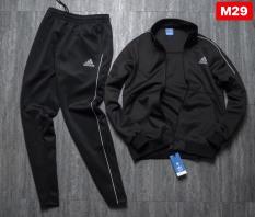 Bộ Thể Thao Nam Adidas F1 Áo Khoác và quần ống suông Chất Nỉ Da Cá Dày Dặn – Loại Xịn