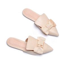 Giày sabo nữ đính nơ Merly 1154
