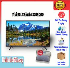 Tivi 32 inch TCL L32D3000, tích hợp đầu thu KTS DVBT-2, màn hình HD, Hỗ trợ nhiều cổng kết nối như HDMI, USB, jack 3.5 mm, hàng chính hãng bảo hành 2 năm.