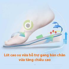 Một cặp lót giày cao su độn đế tăng 2.5cm hoặc 3.5cm chiều cao dùng cho giày size từ 35 đến 40, lót giày độn đế tăng chiều cao dùng mang giày tây, giày thể thao, giày slip on, giày lười nữ, giày boot nữ
