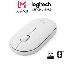 Chuột không dây Logitech Pebble M350 – Kết nối Bluetooth hoặc đầu thu 2.4 GHz, Yên tĩnh, Thiết kế mỏng gọn, Không tiếng click dành cho Laptop, Notebook, PC và Mac