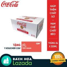 Thùng 24 lon Nước ngọt có ga Coca-Cola Plus 330ml