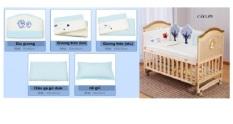Bộ nệm lót giường cũi bằng vải bông cho bé
