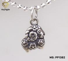 Mặt đeo dây chuyền, lắc tay, lắc chân cho bé 12 con giáp bạc Thái 925 Huệ Ngân – Quà tặng tuổi Mùi PP1382