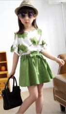 Bộ đồ cho bé gái gồm áo hở vai và chân váy BO28