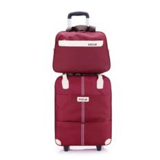 Vali du lịch tay kéo XXCLW size lớn 20inch 39×21, 5x45cm + túi kèm