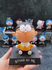 Mô Hình Emoji lắc đầu mặt ngáo hình Doremon, Nobita, Kitty, Captain…Công dụng 3in1 Trang Trí Xe, Kê Điện Thoại, Để bàn làm việc