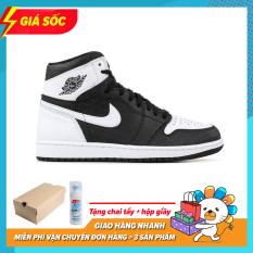 Giày Thể Thao Sneaker Nam Nữ Nike Jordan1 Cao Cổ Màu Trắng Đen
