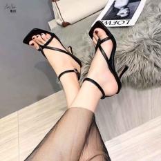 Giày gót mãnh 7 phân nối dây thời trang cao cấp