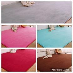 Nệm ngủ (1m x 1.6m) chất liệu lông nhung dày cao cấp êm và mát ( màu ngẫu nhiên) hàng nhật xuất dư(nệm dán)