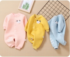 Body liền thân trần bông, bodysuit dài tay cotton cho bé trai và bé gái sơ sinh từ 3-15kg, hàng đẹp xuất Hàn
