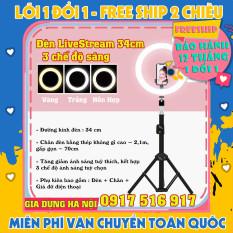 Đèn LiveStream 20cm Tặng Kèm Chân Đỡ & Kẹp Điện Thoại (Bảo hảnh 12 tháng)